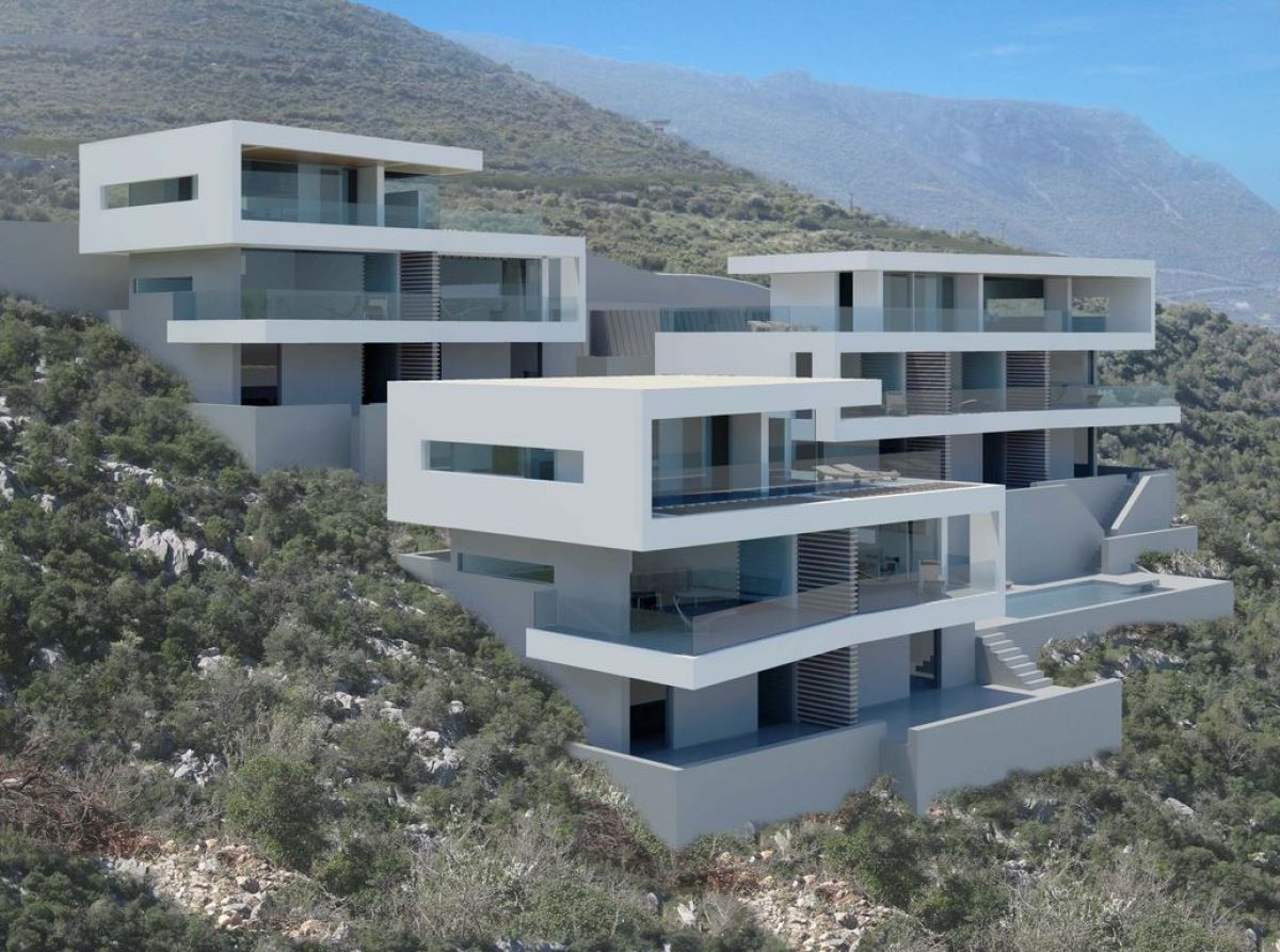 Complex of 10 apartments with swimming pool tzimasplus for Pool apartments